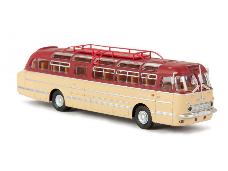 Ikarus 55 reisebus rubinrot b messeneuheit 2016 brekina 59455 for Ikarus frankfurt