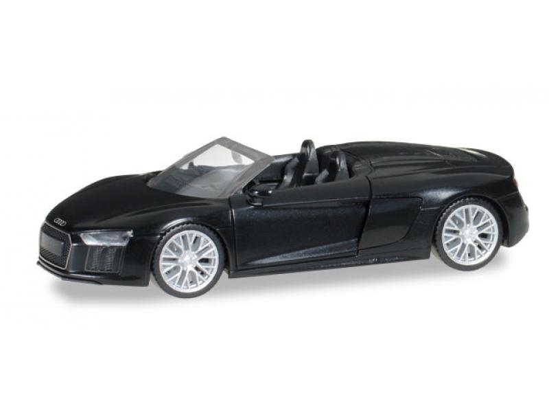 audi r8 spyder mythosschwarz neu nov dez 2016 herpa 038690. Black Bedroom Furniture Sets. Home Design Ideas