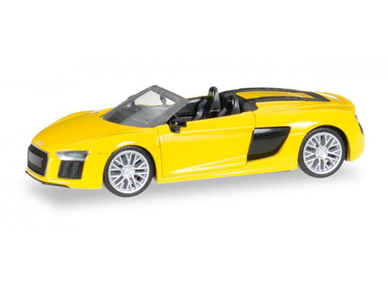 audi r8 spyder vegasgelb neu nov dez 2016 herpa 028691. Black Bedroom Furniture Sets. Home Design Ideas