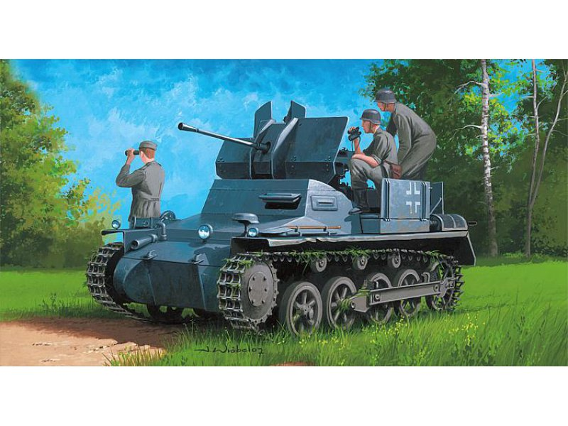 1 35 flakpanzer ia mit muniti neu 2017 hobby boss 380147. Black Bedroom Furniture Sets. Home Design Ideas